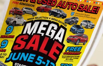 Mega Sale - digital branding design promotional
