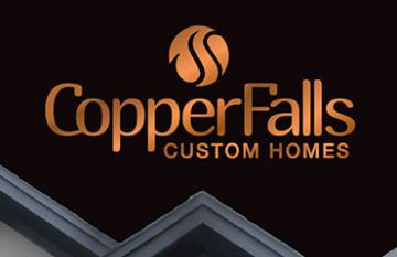 Copper Falls Custom Homes - branding design web featured